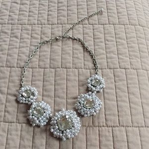 Rhinestone and pearl statement necklace, Jewelmint